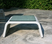 Table d'appoint Eden (fibre blanche)
