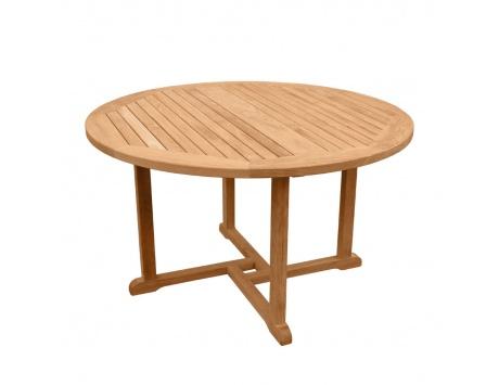 table ronde baltimore 130 la hutte mobilier. Black Bedroom Furniture Sets. Home Design Ideas