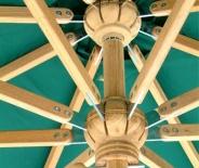Parasol rond (toile bleue)