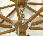 Parasol rond (toile écru)