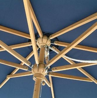 parasol rectangulaire toile sunbrella bleue la hutte mobilier. Black Bedroom Furniture Sets. Home Design Ideas